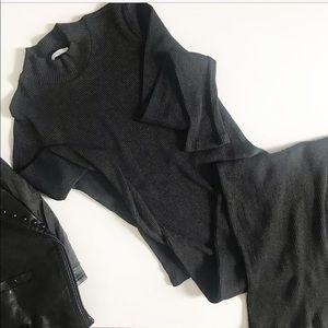 Zara knit dress. gray size S
